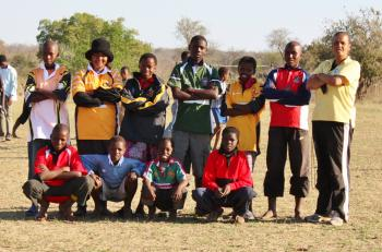 Likima Community players with their LV SOSKITAID rugby kit