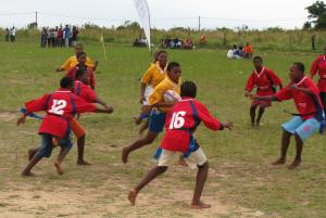 Lutfotja girls on the attack against Ekutsimeleni