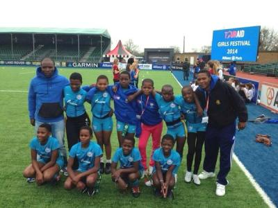 Imbali at Allianz Park during the Touraid U/13's Girls Tag Tournament