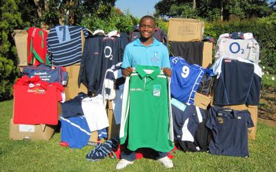 Schools Development Coach Wilson Dlamini with some of the LV-SOSKitaid kit