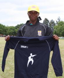 Banele Magagula with the kit donated by the LV-SOSKitaid Programme