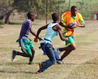 Players at the Kudu's Rugby club Tag Rugby Day