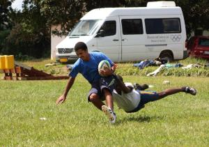 The try saving tackle