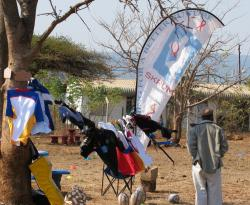 The Rugby Union stand at the Shukumi Sports Day in Lavumisa