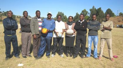 The teachers who attended the Mbabane Schools Teacher Coaches Rugby Workshop